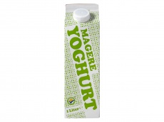 Magere yoghurt product foto