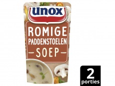 Soep in zak speciaal romige bospaddenstoelen product foto