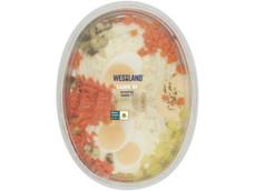Ambachtelijke Russisch ei salade product foto