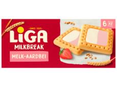 Milkbreak duo melk aardbei product foto
