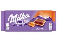 Chocoladereep caramel product foto