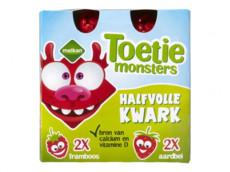 Toetiemonsters halfvolle kwark aardbei 4-pak product foto