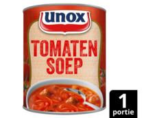 Soep in blik stevige tomatensoep product foto