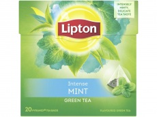 Groene thee intense munt product foto