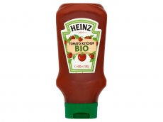 Biologische tomato ketchup product foto