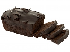 Chocolade fudge cake product foto