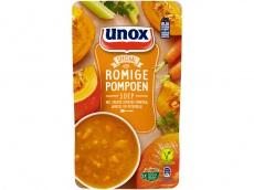 Soep in zak speciaal romige pompoensoep product foto