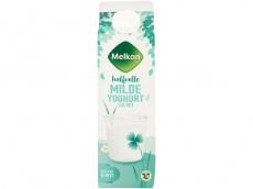 Halfvolle milde yoghurt product foto