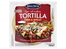 Corn & wheat tortilla product foto