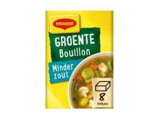Blokjes voor groente bouillon minder zout product foto