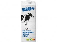 Biologische volle melk houdbaar product foto