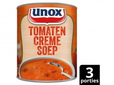 Soep in blik stevige tomaten crèmesoep product foto