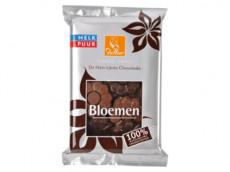 Chocolade bloemen melk & puur product foto