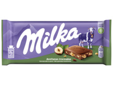 Chocoladereep gebroken noten product foto