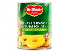 Ananasschijven op siroop product foto