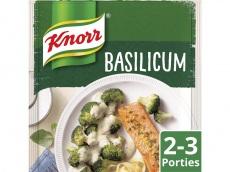 Mix roomsaus basilicum product foto