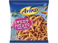 Zoete aardappelfrites product foto