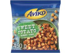 Zoete aardappelblokjes product foto