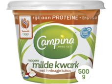 Magere milde kwark met kokos product foto