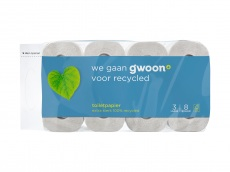 Toiletpapier 3 laags recycled product foto