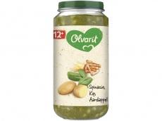 12m07 spinazie kip aardappel product foto