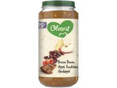 15M06 Bruine bonen Appel Rundvlees Aardappel product foto