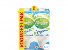 Langlekker halfvolle melk voordeel 4 x 1lt product foto