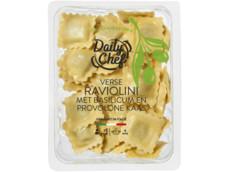 Raviolini basilicum provolone product foto