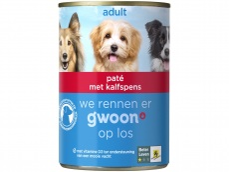 Paté met runderpens adult hond product foto