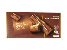 Chocolade tablet praliné melk product foto