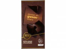 Chocolade tablet extra puur 85% product foto