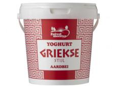 Yoghurt Griekse stijl aardbei product foto