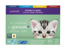 Junior kattenbrokjes in gelei product foto