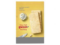 Luchtige crackers naturel product foto
