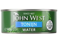 Tonijnstukken in water product foto