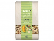Muesli fruit en noten product foto