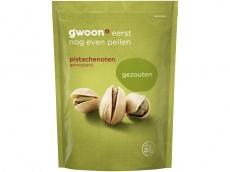 Gezouten pistachenoten ongebrand product foto