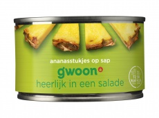 Ananasstukjes op sap product foto