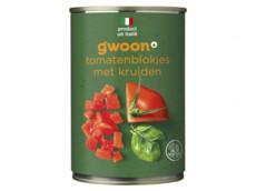 Tomatenblokjes kruiden product foto