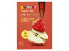 Knijpfruit appel aardbei product foto