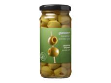 Groene olijven product foto