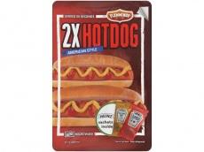 Broodje hotdog duo product foto