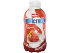 Aardbei mullermilk product foto