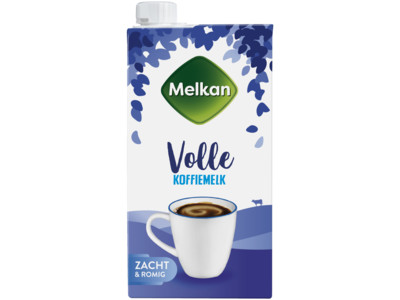Volle koffiemelk product foto