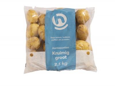 Aardappelen kruimig grof product foto