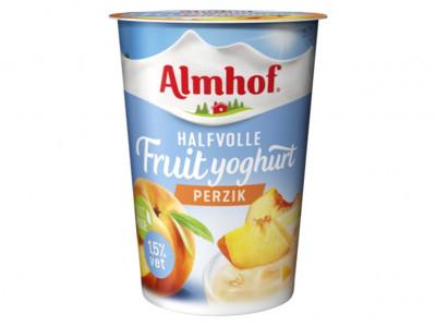 Halfvolle yoghurt perzik product foto