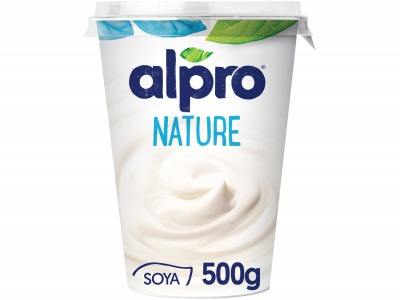 Plantaardige variatie op yoghurt naturel product foto