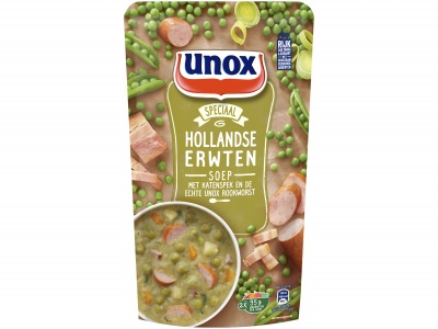 Soep in zak Hollandse erwtensoep product foto