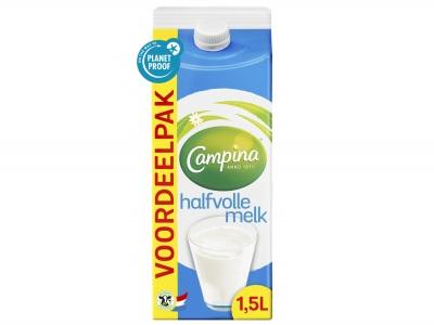 Halfvolle melk product foto