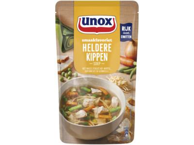 Soep in zak speciaal heldere kippensoep product foto